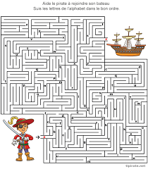 Labyrinthes à imprimer  Tipirate