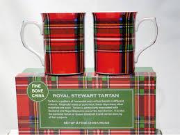 mug set royal stewart plaid scottish tartan 2 mugs