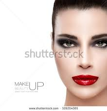 beauty makeup concept half face beautiful stock photo 315968042
