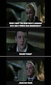 Hary Potter Memes - funny harry potter meme goyle malfoy donald trump harry potter
