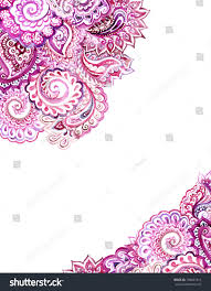 corner ornamental edging design arabian lace stock illustration