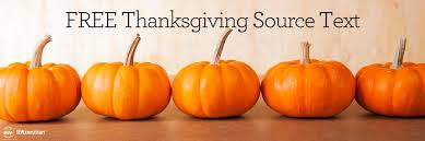 free thanksgiving source text institute for excellence in writing