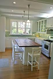 Kitchen With Glass Tile Backsplash Best 25 Butcher Block Island Ideas On Pinterest Kitchen Island