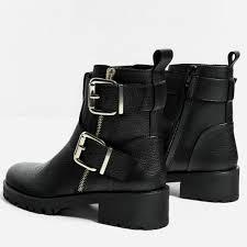 zara womens boots sale leren enkellaarsjes met gespen zara schoen zak