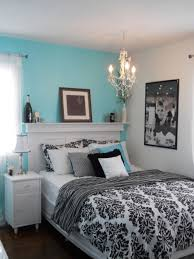 Tiffany Blue Wall With Blackwhite Accents And Audrey Hepburn - Blue and black bedroom designs