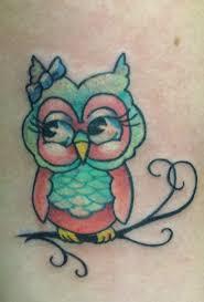nice and simple baby owl tattoo idea golfian com
