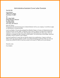 Executive Assistant Cover Letter Template by 8 Cover Letters For Administrative Assistants Mail Clerked