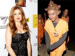 Orange Black Halloween Costumes Isla Fisher Told Julianne Hough Wipe Blackface