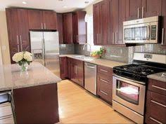 Metal Cabinets Kitchen Cute Dark Brown Color Mahogany Wood Kitchen Cabinets Comes With
