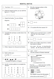 warren sparrow grade 4 mental maths test