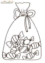 Coloriage dun sac de bonbons sur Tête à modeler