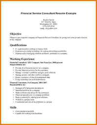 Financial Services Resume Template 10 Financial Consultant Resume Sample Financial Statement Form