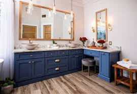 how to clean wood cabinets in bathroom 75 beautiful bathroom with blue cabinets pictures ideas