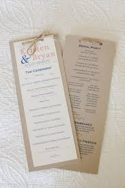 wedding ceremony programs diy diy wedding ceremony programs were getting married 10 26 2013