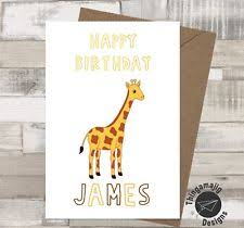 giraffe birthday card ebay