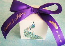 favor ribbons throwback thursday pretty as a peacock wedding theme ideas