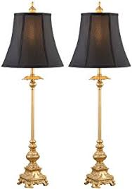 Candlestick Buffet Lamps by French Candlestick Metal Frame Shade 34