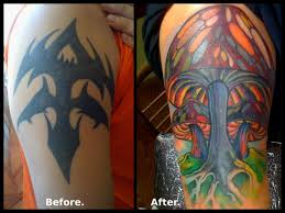 100 tribal tattoo cover ups before and after rose cover up