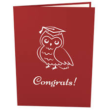 graduation owl 3d graduation owl pop up card lovepop
