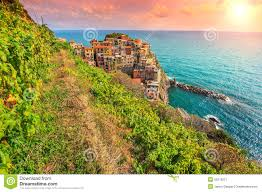 Manarola Italy Map by Beautiful Vineyard And Old Town Of Manarola Italy Europe Stock