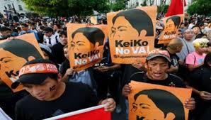 toledo a keiko quot quien thousands of peruvians protest the fujimori dictatorship news