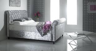 Velvet Bed Frame 5ft Crush Velvet Bed Frame King Size Crushed Velvet Bedstead