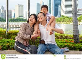happy family garden happy asian family in city garden stock photo image 60374458