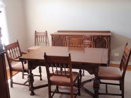 john m smyth co dining room set 6 chairs table china cabinet