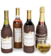chocolate wine chocolate dipped wine bottle