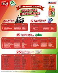 Teh Pucuk Harum Di Alfamart pemenang undian tahap 1 kejutan kesegaran dari teh pucuk harum dan
