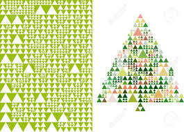 abstract triangle tree and pattern royalty free cliparts