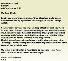 letter to uncle thanking him for the birthday present