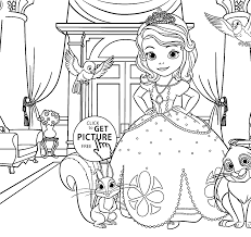coloring pages for kids printable free with princess sofia