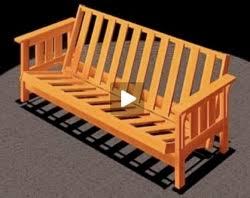 futon sofa bed craftsman style video free woodworking plans