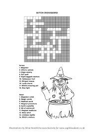 witch crossword winnie the witch and tricky words by