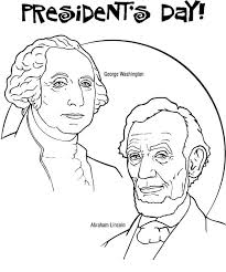 free printable coloring pages of us presidents presidents day coloring pages george washington and abraham