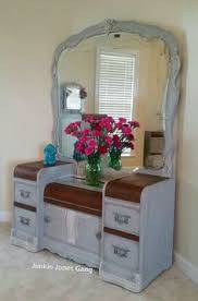 Home Goods Vanity Table Lovely Deco Waterfall Vanity Mirror And Bench By Meritagemart