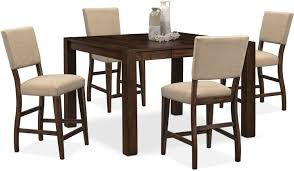 tribeca counter height table and 4 upholstered side chairs