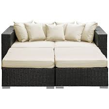 Outdoor Patio Daybed Palisades 4 Outdoor Patio Daybed Espresso White Buy