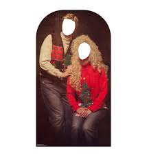 christmas sweater portrait stand in