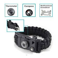 survival bracelet with whistle images 15 in 1 paracord bracelet 550lbs with whistle fire starter jpg