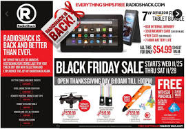 radioshack proclaims its return in black friday ad