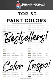 most popular sherwin williams kitchen cabinet colors top 50 bestselling paint colors at sherwin williams