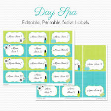 Candy Labels For Candy Buffet by Spa Party Candy Buffet Labels And Place Cards U0027s