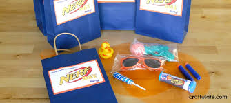 party favor bags nerf party favor bags craftulate