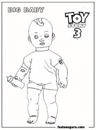 big baby toy story 3 printable coloring pages sandy
