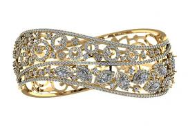 bracelet design diamond images Buy designer diamond bangle online in india at best price jewelslane jpg