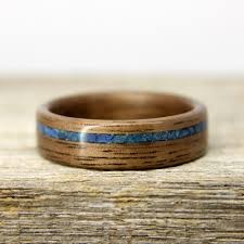 buy wood rings images Buy walnut bentwood ring with offset lapis lazuli and chrysocolla jpg