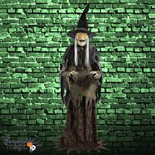 halloween animated witch scary life size standing animated swamp hag witch halloween moving