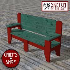 deck bench chief u0027s shop